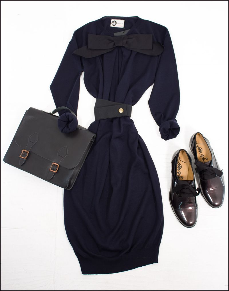 Navy Lanvin Dress-2